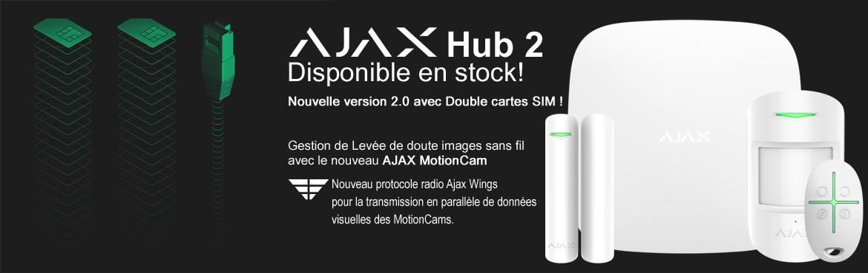 AJAX HUB 2 : Nouveau système de sécurité sans fil équipé d'une transmission IP et GSM avec double SIM!