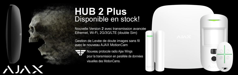 AJAX HUB 2 PLUS : Nouveau système de sécurité intelligent IP,Wi-Fi, 2G/3G/LTE avec levée de doute images et vidéo!