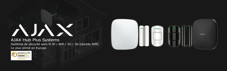 AJAX HUB : Système de sécurité sans fil IP,Wi-Fi, 3G le plus primé d'Europe