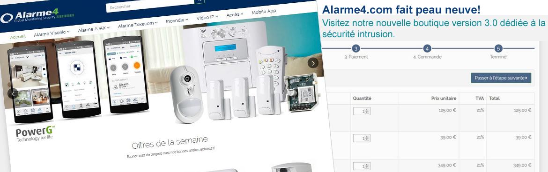 Nouveau site Alarme4.com